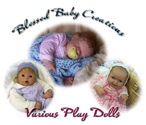 A variety of play dolls